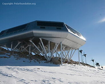 Princess Elisabeth Station in the Antarctic